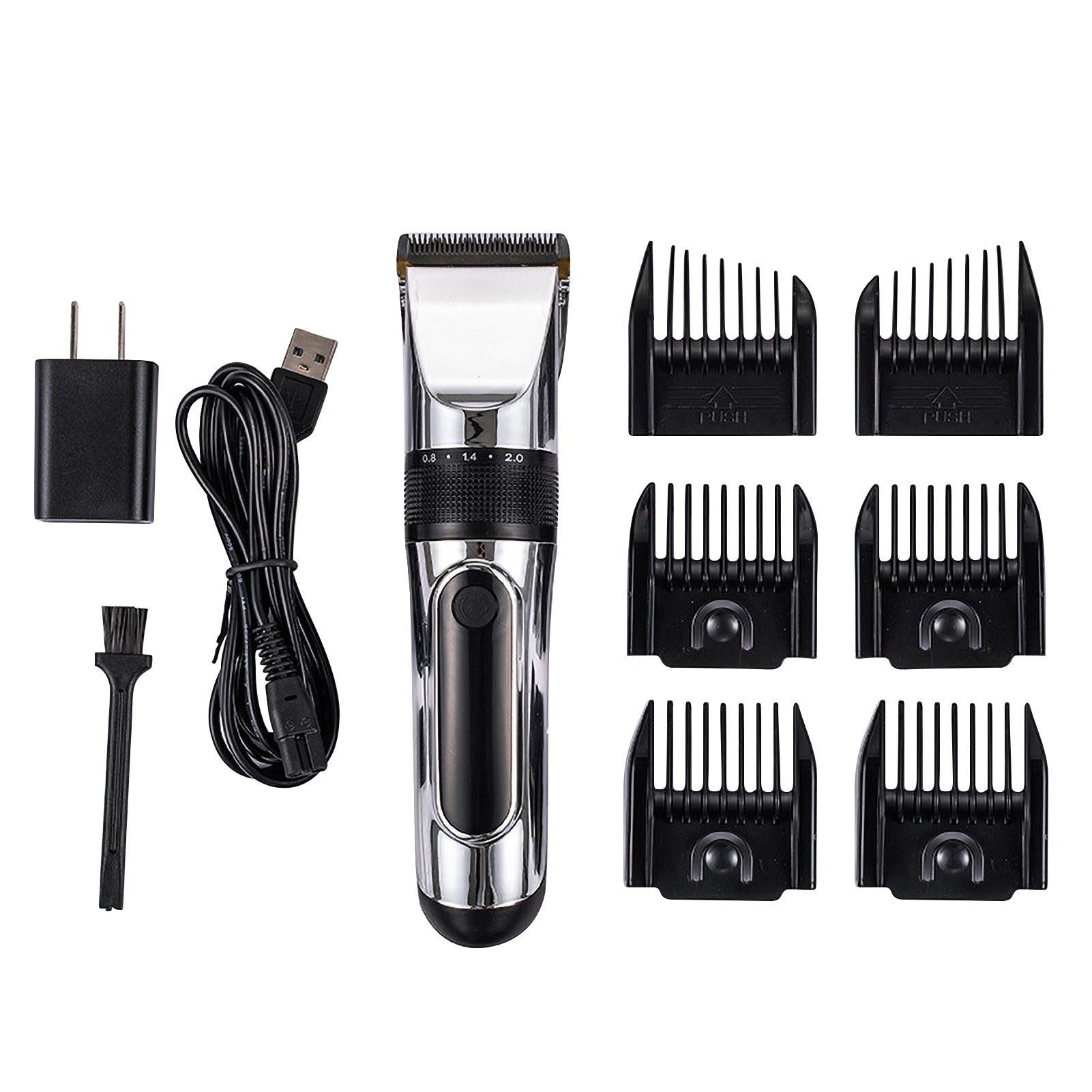 Cafago - 66% OFF LCD Digital Display Screen Hair Trimmer Quiet Waterproof Cordless Hair Shear Kit,free shipping+$20.32
