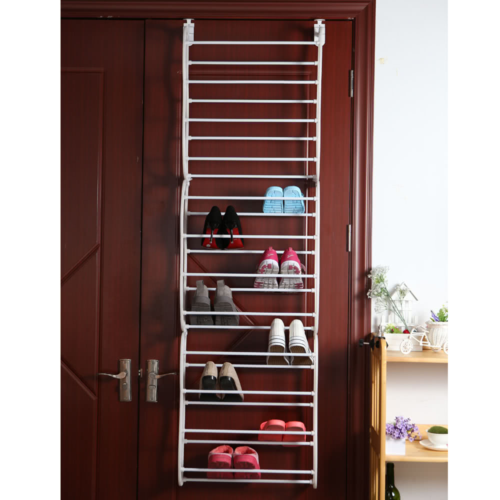 Simple compositional over door 12 tier 36 pair tower shoe Stylish shoe rack