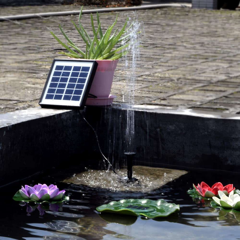 Solar landscape fountain 6v 1 5w equipment solar power for Gartenpool pumpe