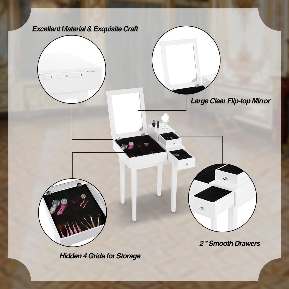 Ikayaa contemporary bedroom vanity table make up dressing table ikayaa contemporary bedroom vanity table make up dressing table sales online tomtop geotapseo Choice Image