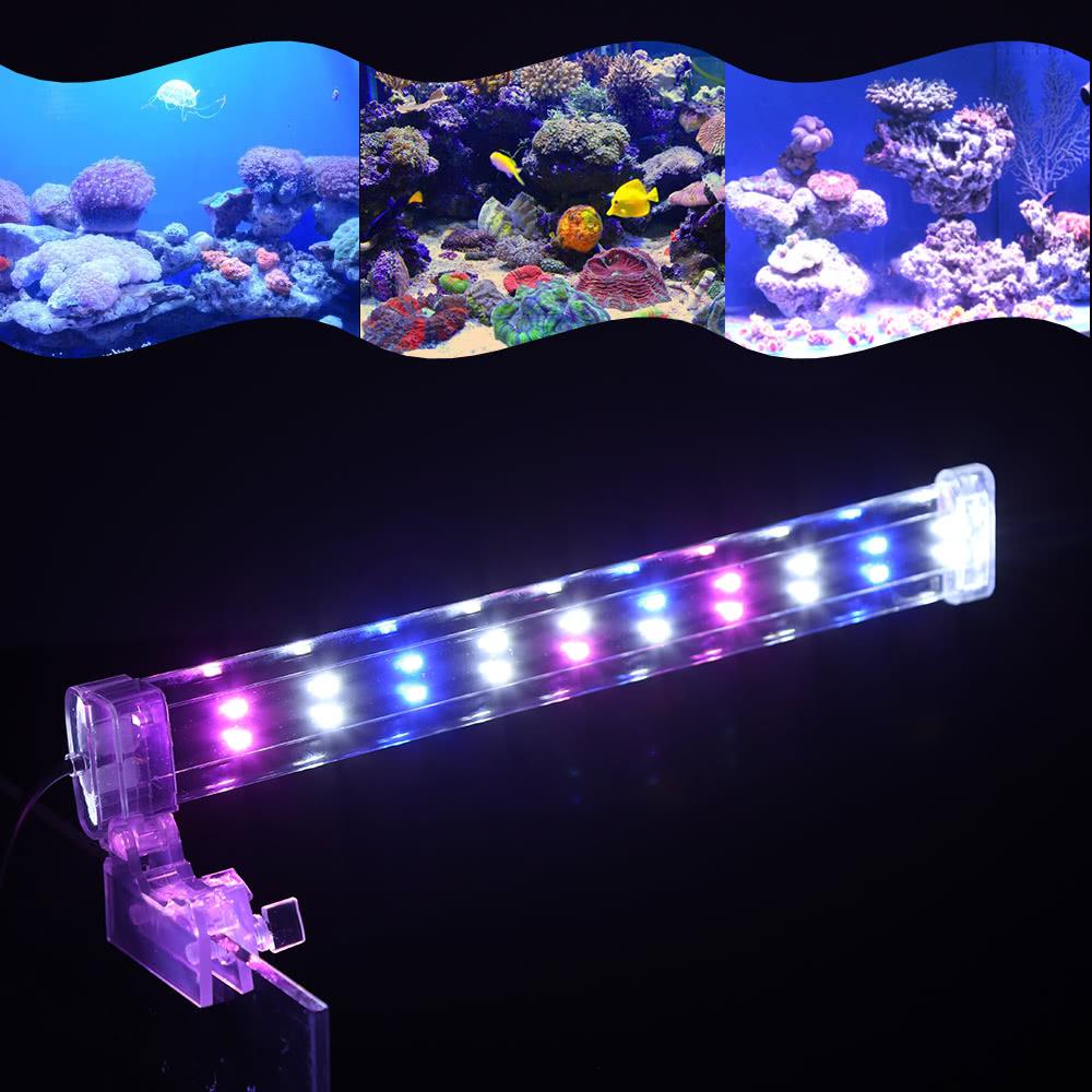 18cm 28cm 38cm Aquarium Led Clamp Lamp Clip On High Light Bar