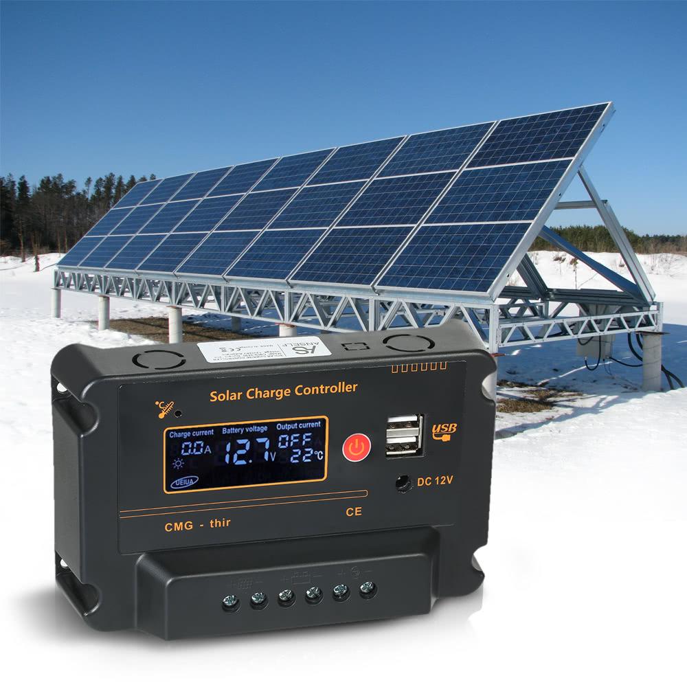 Regolatore Del Pannello Solare : Anself a v lcd regolatore di carica solare del