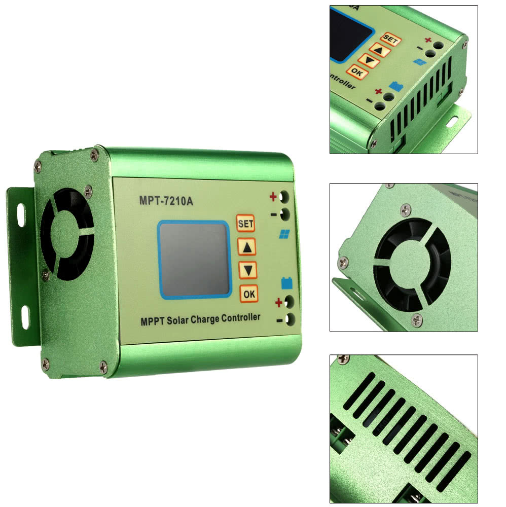 Mppt Solar Panel Battery Regulator Charge Controller With Lcd Color Boost Converter Diy Display 24 36 48 60 72v 10a Compatible Dc Function