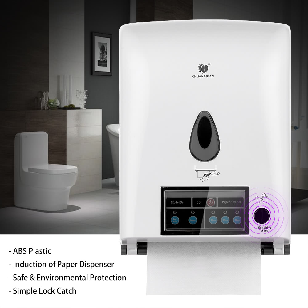 paper towel dispenser for home bathroom. anself chuangdian 100-240v automatic sensor roll paper towel dispenser wall mount holder auto cut jumbo tissue for hospital hotel home bathroom