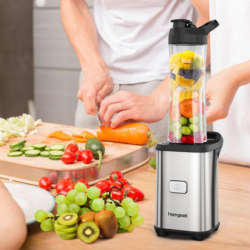 Homgeek mini 350w extracteur de fruits et l gumes une seule personne smoothie personnelle - Extracteur de fruits et legumes ...