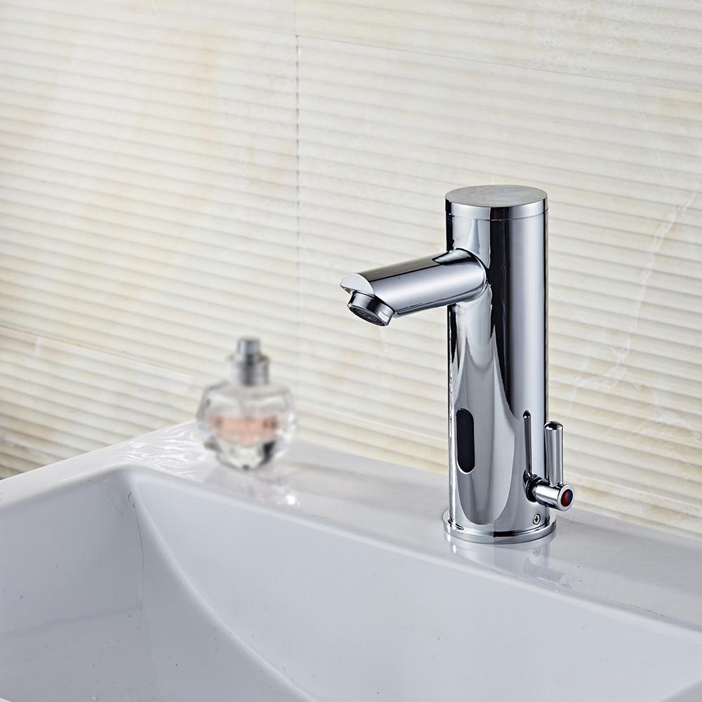 Automatic sensor faucet sensor touchless faucet induction faucet bathroom sink faucet water for Second hand bathroom fixtures
