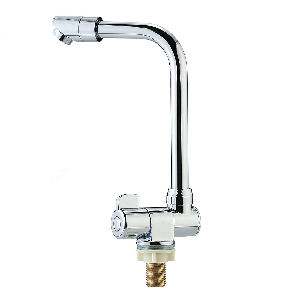 Foldable Rotating Single Handle Deck/Wall Mounted RV Kitchen Faucet ...