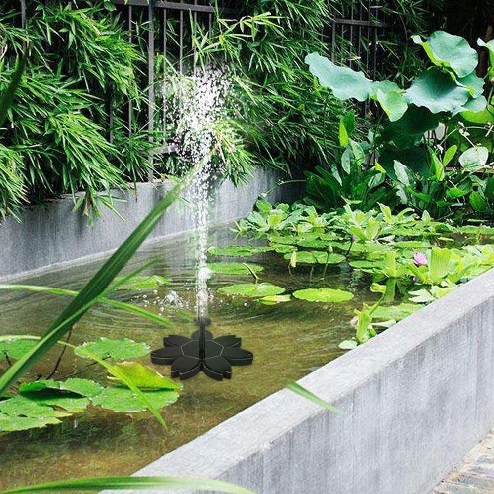 Fontaine Solaire De Jardin concernant flottant fontaine solaire pompe à eau multilatérale fleur forme