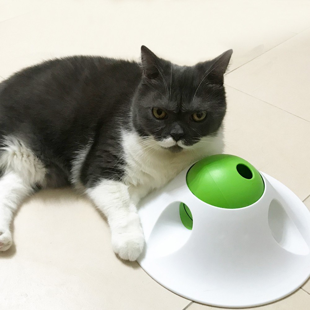 L'Chic Flying Saucer Shape Pet Leak Food Dispenser Toy
