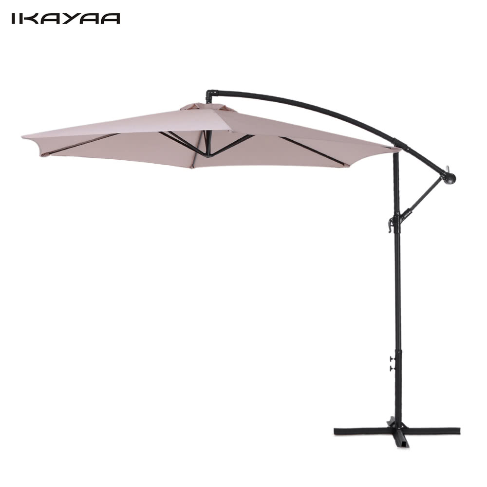 Ikayaa 3m ajustable colgantes para sombrilla de jard n con for Como hacer una sombrilla para jardin