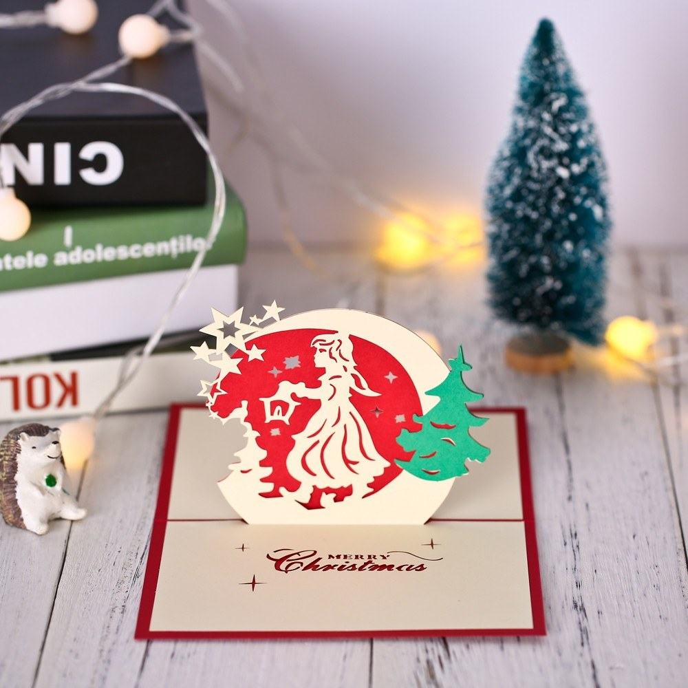 3D Christmas Pop Up Greeting Card