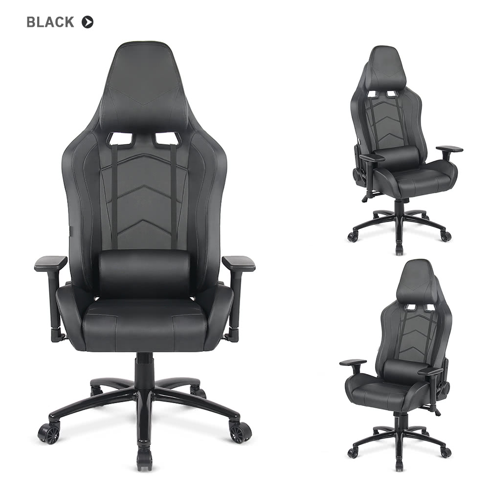 backrest office recliner product adjustment pillows height massagetilt seat game and with gtracing headrest rocker swivel lumbar computer red sports chair ergonomic e racing black gaming