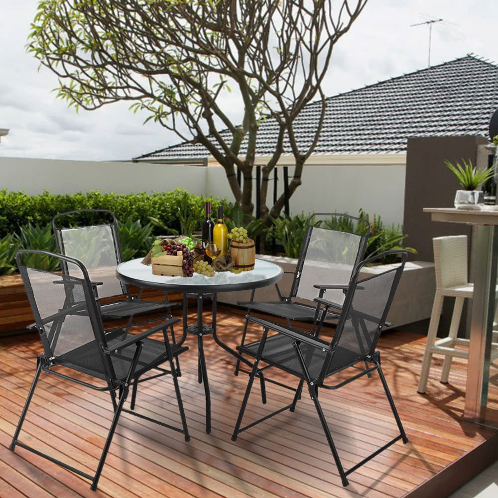 Ikayaa 6pcs outdoor mobili da pranzo arredamento w for Outdoor mobili