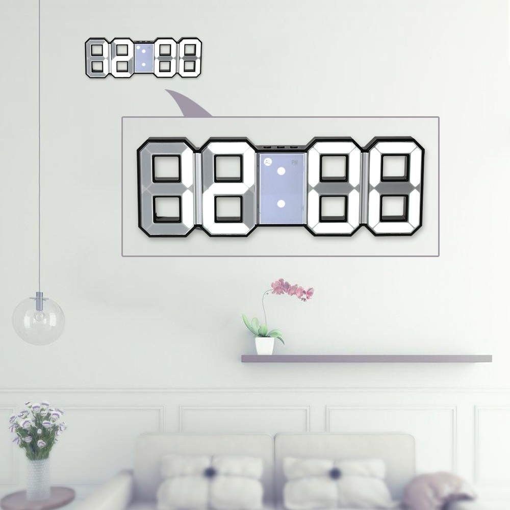 Multifunctional large led digital wall clock 12h24h time sales multifunctional large led digital wall clock 12h24h time display with alarm and snooze function adjustable luminance amipublicfo Images
