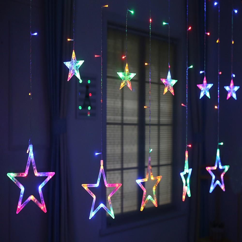 Fancy Star Vorhang LED Light Romantische Fairy String Licht Für Schlafzimmer  Hochzeit Urlaub Weihnachten Festival Twinkle