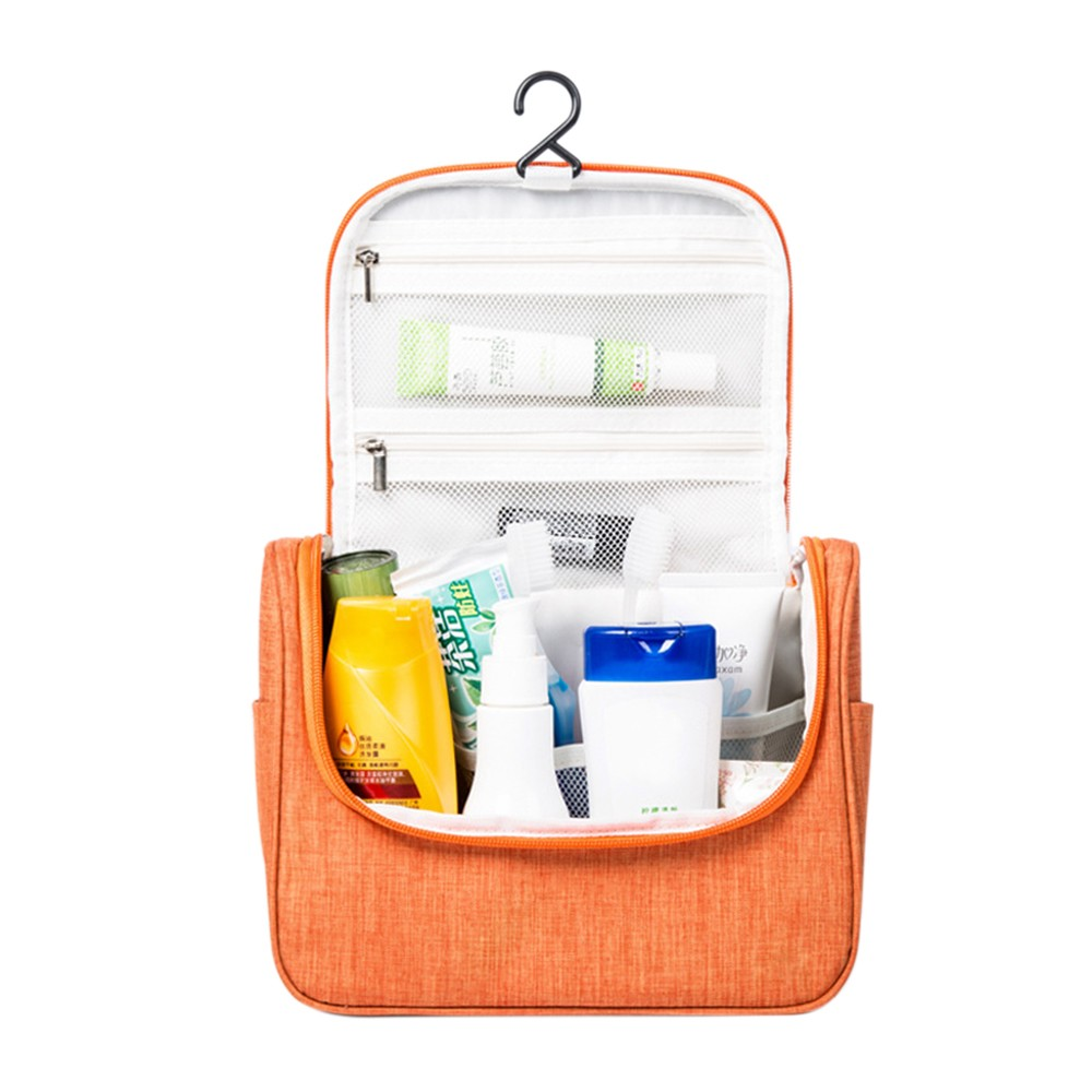 Multifunctional Travel Cosmetic Bag Hanging Toiletry Makeup Pouch Cosmetics Make Up Organizer Woman Mens Wash Case Accessories Supplies Water Resistant With Mesh Pockets