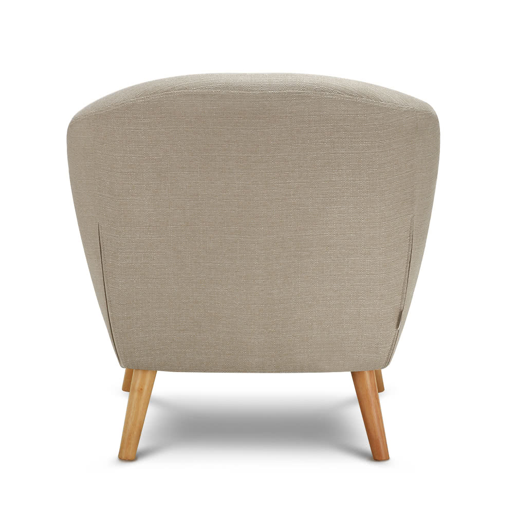 Skyline Furniture Tufted Dining Chair In Linen Grey Linen
