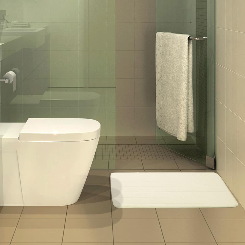 50 * 80cm Rectangular Soft Coral Fleece Bathroom Rug Non-slip Water ...