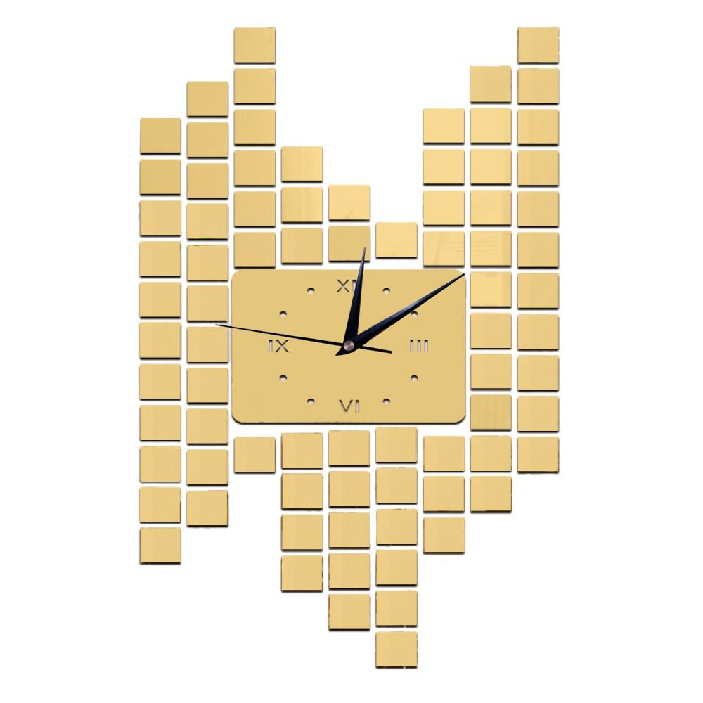 Modern DIY Frameless Roman Numerals Quartz Wall Clock Mirror Effect ...