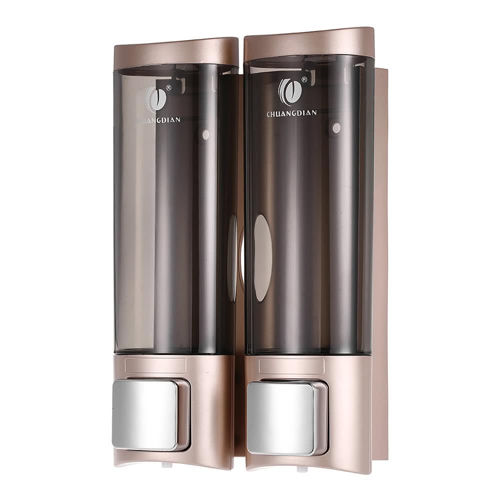 Chuangdian Manual Hand Soap Dispenser Wall Mount Double Liquid