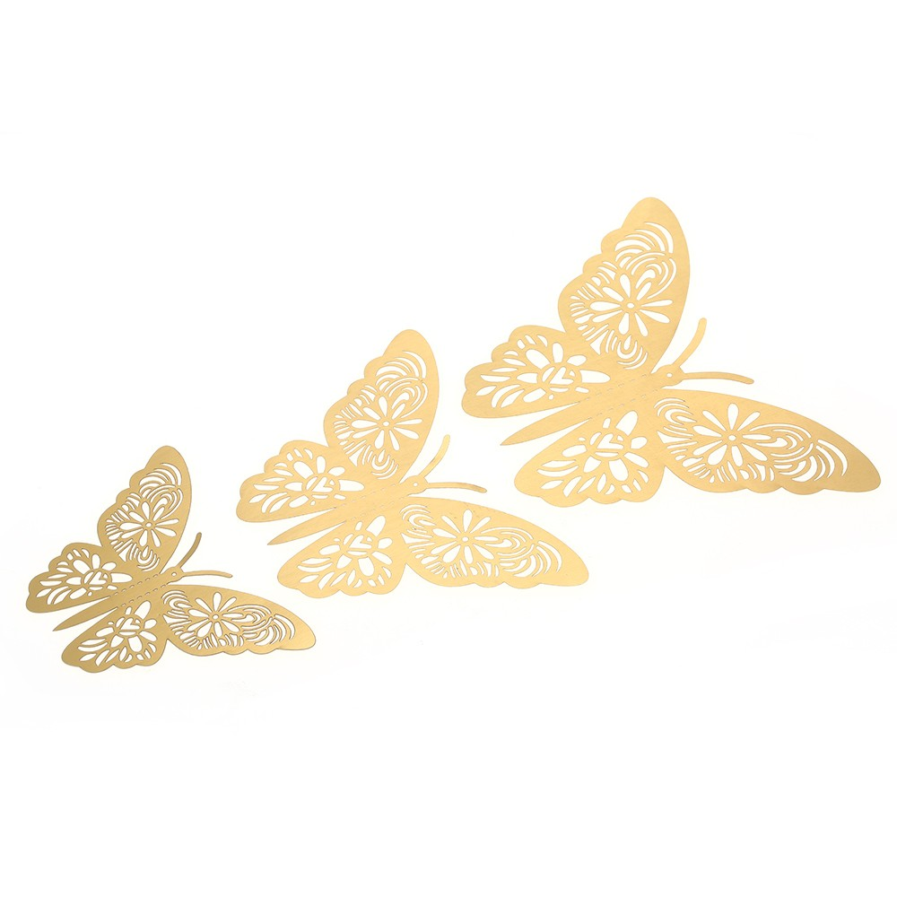 12pcs/set Vivid 3D Butterfly Wall Stickers Removable Mural Stickers ...