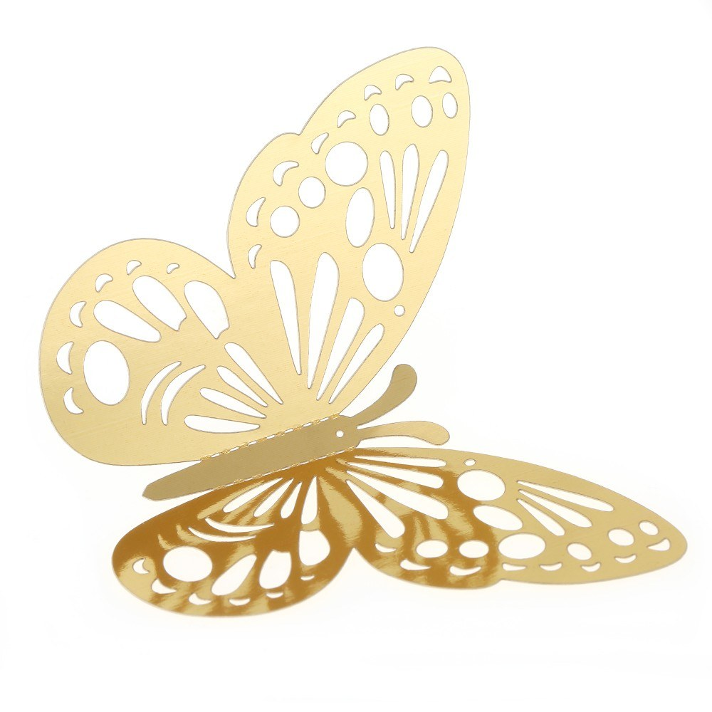 12pcs/set 3D Butterfly Wall Stickers Hollow Removable Mural Stickers ...