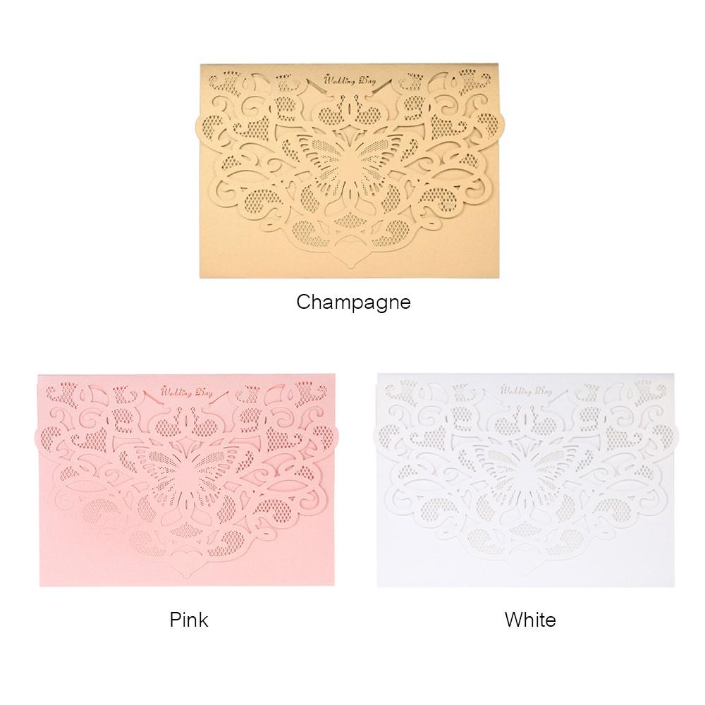20pcs/set Wedding Invitation Cards Pearl Paper Laser Cut Hollow ...