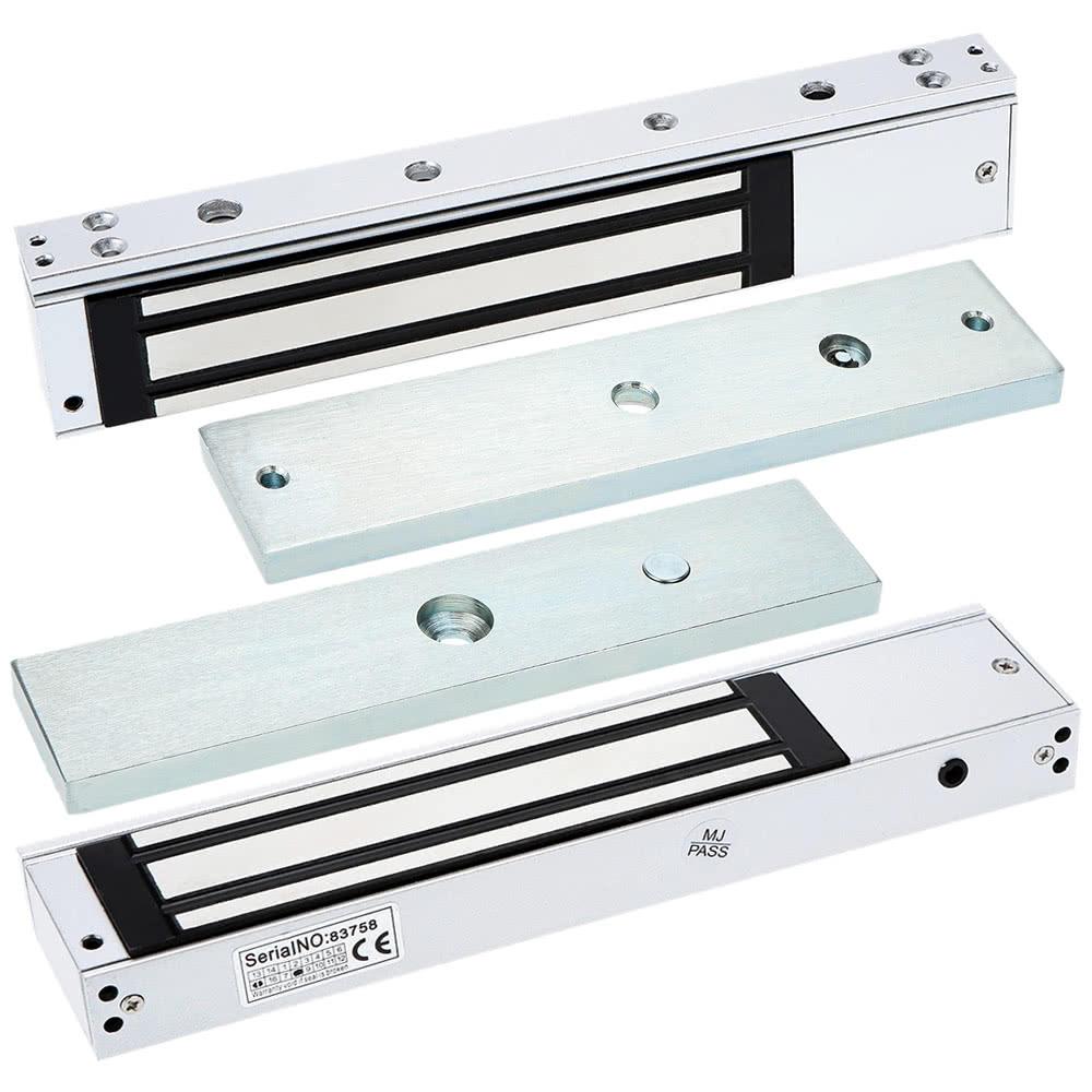 Single Door 12V Electric Magnetic Electromagnetic Lock 280KG (600LB) Holding Force Access Control LED Light