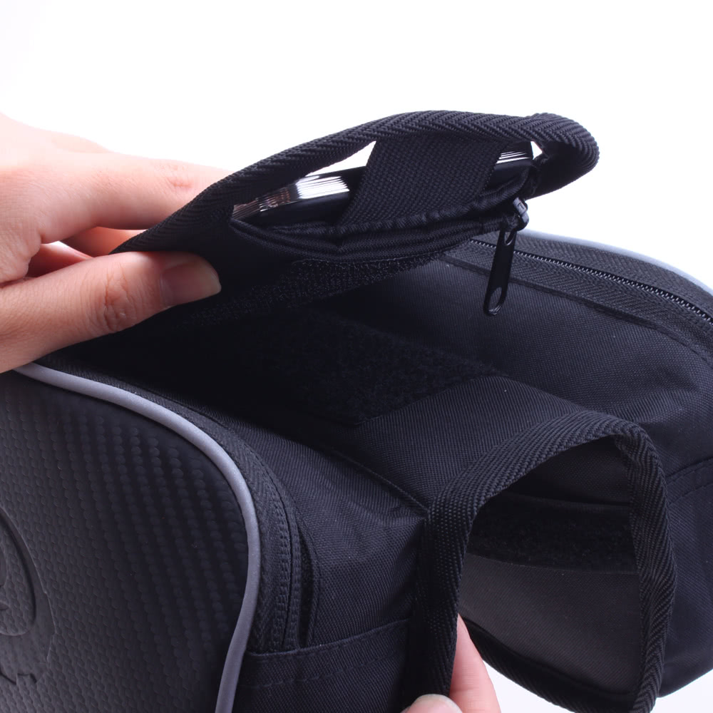 Roswheel Cycling Bike Bicycle Front Top Tube Frame Pannier Double Bag Pouch for 5.5in Cellphone 1.8L 12813L-A