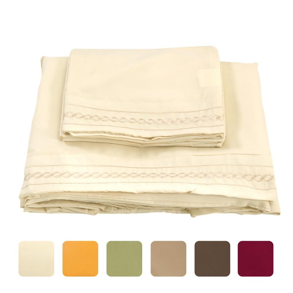 S balos bordan cording 4pcs cama set equipada hoja cama for El universo del hogar ropa de cama
