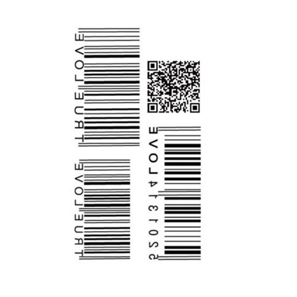 Tattoo Sticker QR Codes Pattern Waterproof Temporary