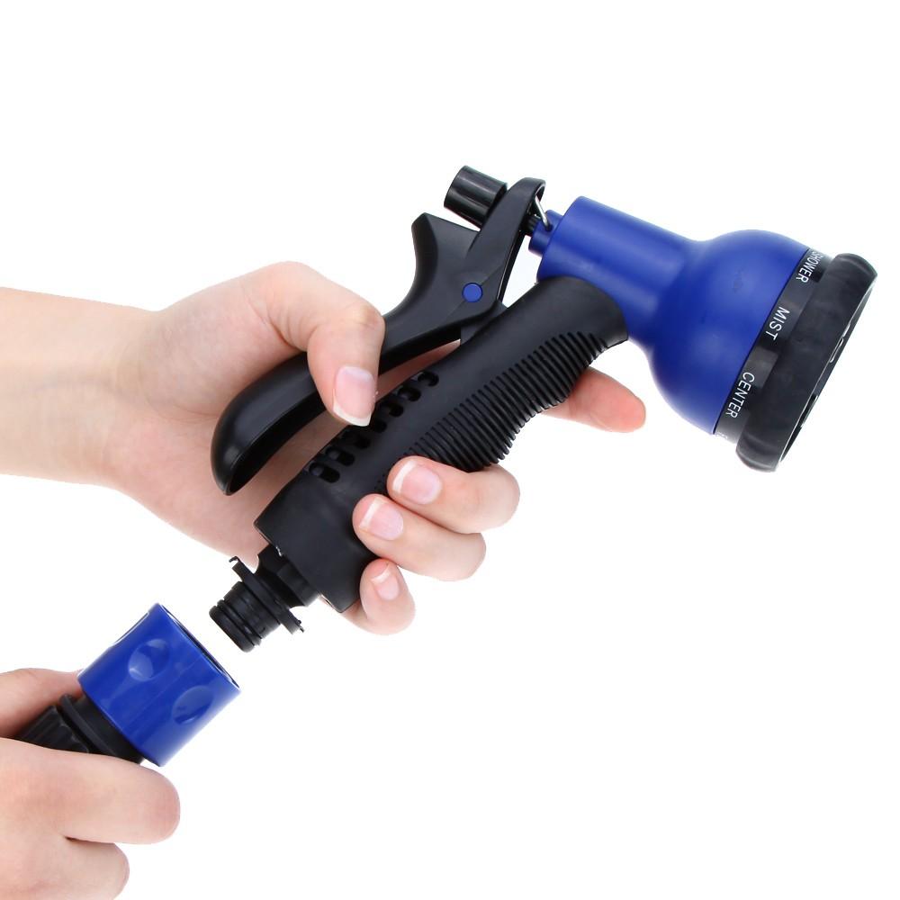 Ft expandable ultralight garden hose fittings set