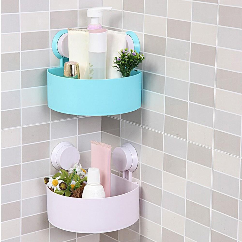 Plastic Bathroom Shelf Kitchen Storage Holder Kitchenware Toiletry ...