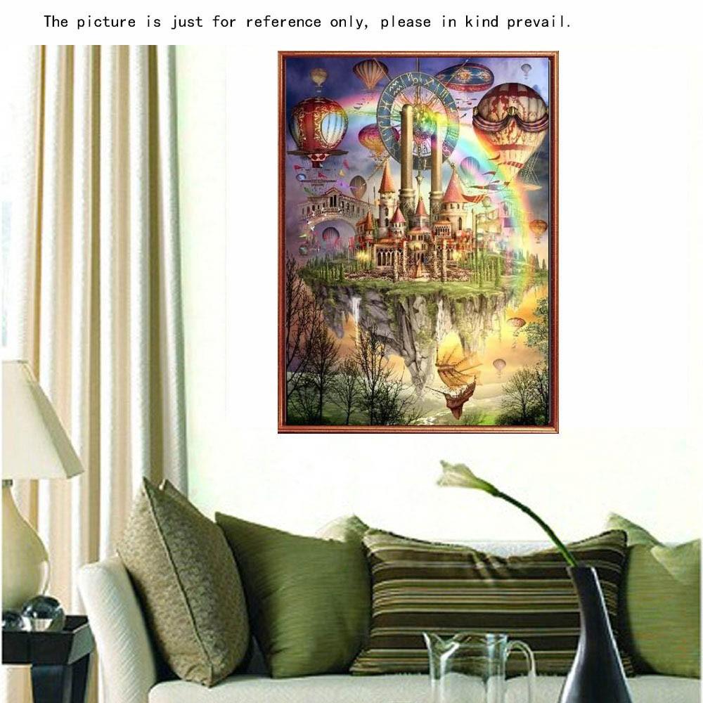 Diy diamant tableau set en motif de ch teau flying r sine for Decoration maison strass