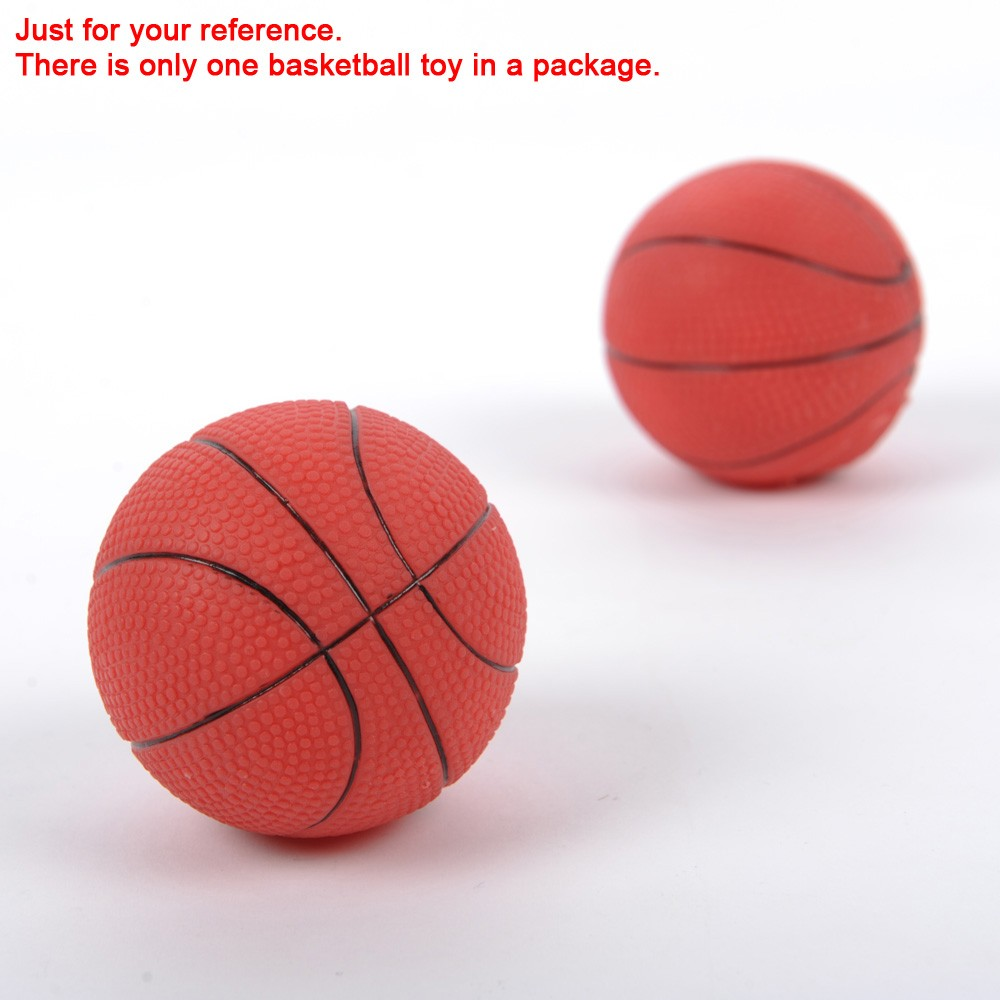 Small Toy Basketball : Cute small basketball toy squeaky dog squeeze