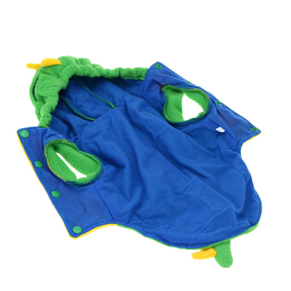 Fashion Cute Dog Clothes Green Dinosaur Dino Style Puppy Coat Pet Jumpsuit Dogs Apparel L/XL/XXL