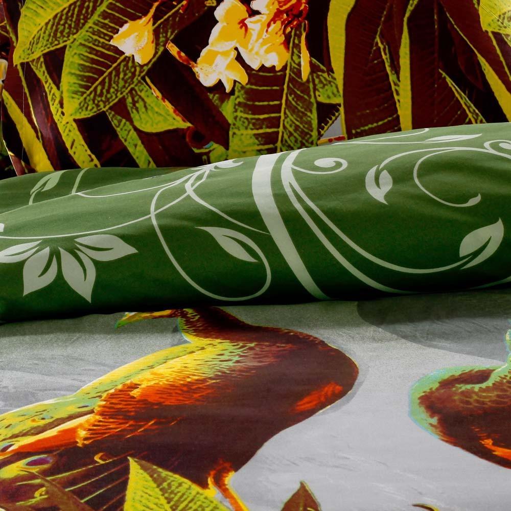 Pavo real patr n 4pcs 3d impreso ropa de cama set ropa de for El universo del hogar ropa de cama