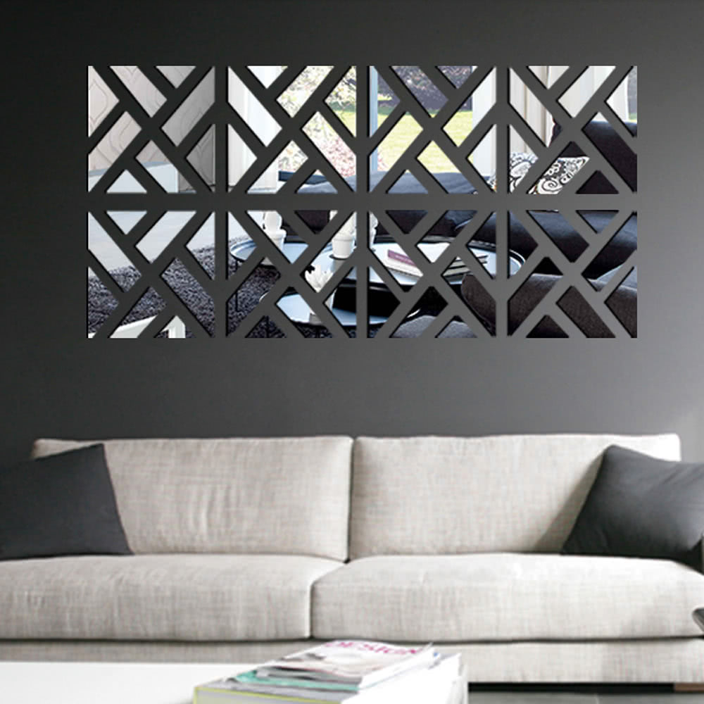 Geometric removable diy 3d acrylic mirror wall decal set sticker geometric removable diy 3d acrylic mirror wall decal set sticker art decals mural for home decoration 30120cm sales online tomtop amipublicfo Gallery