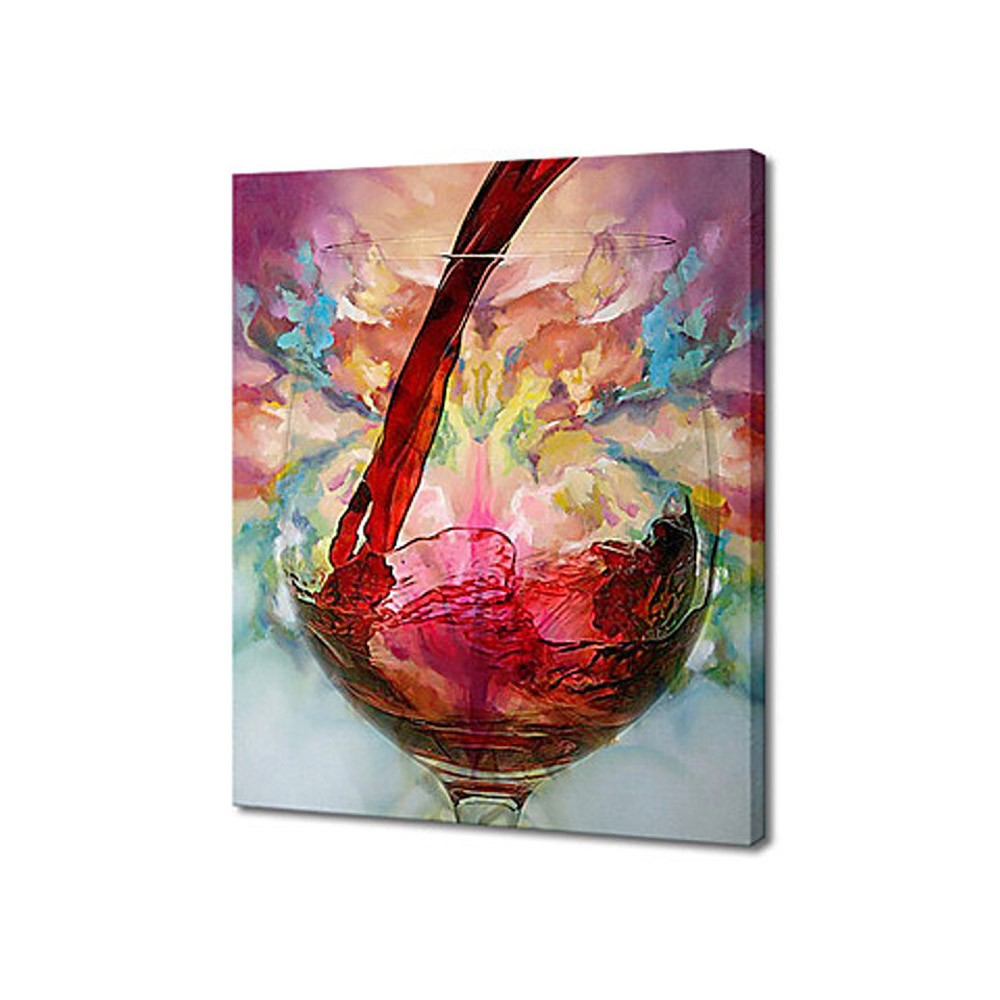 60 70cm hand painted abstract oil painting wine glass for How to paint glass with oil paint