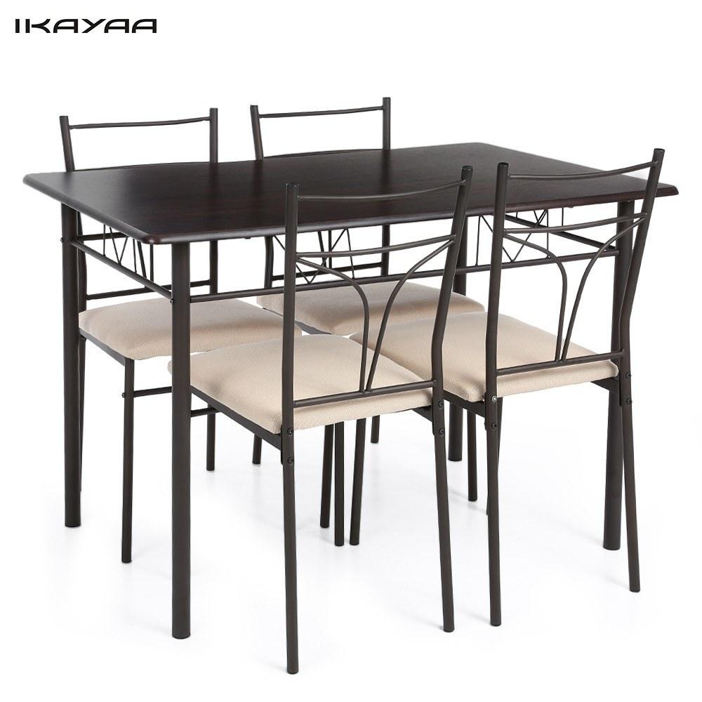 Second Hand iKayaa 5 STÜCKE Moderne Metallrahmen Esszimmer ...