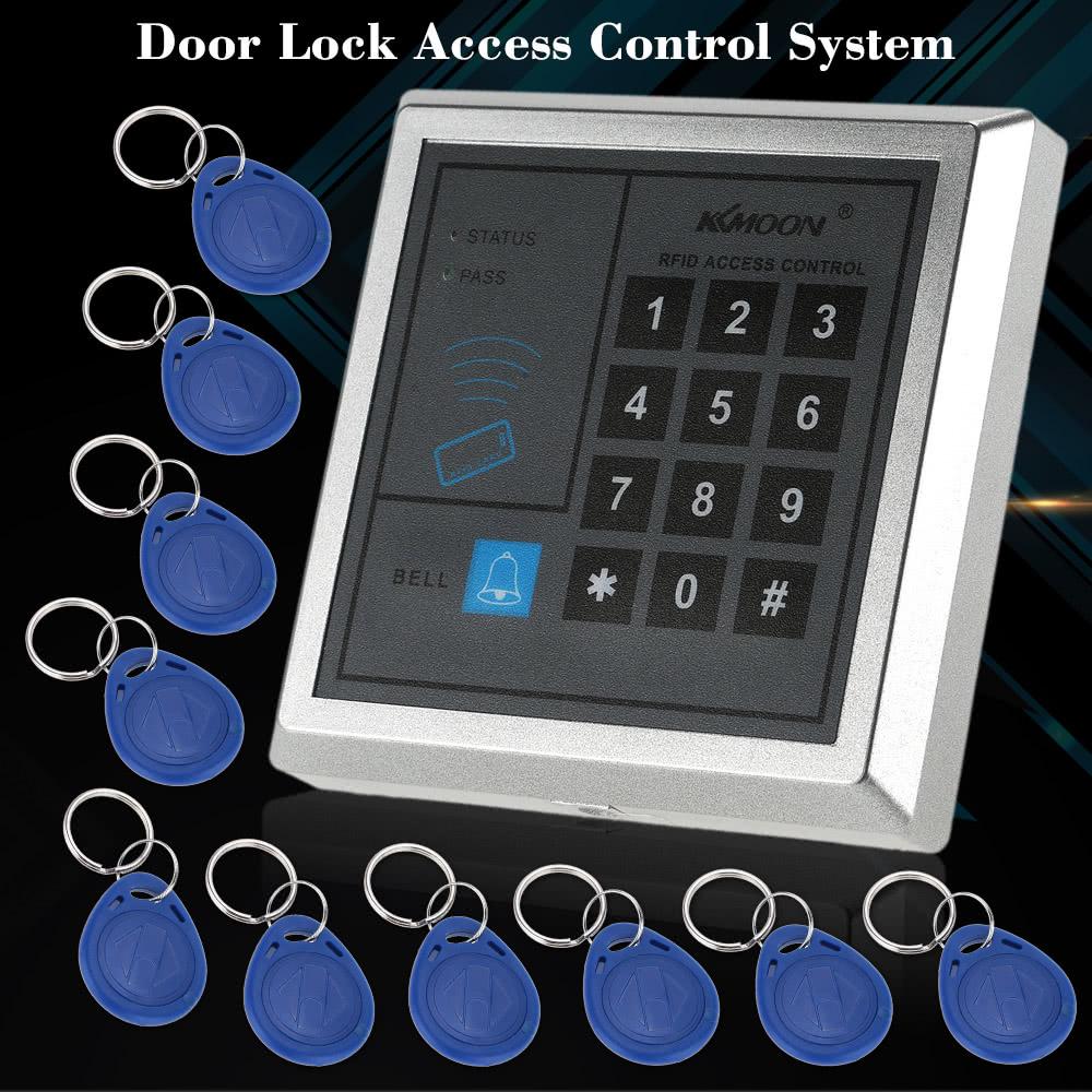 Rfid Proximity Entry Door Lock Access Control System 10 Key Fobs
