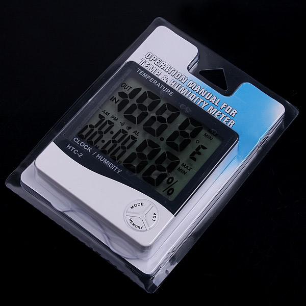 Temperatura lcd digital term metro humedad medidor de for Medidor de temperatura y humedad digital