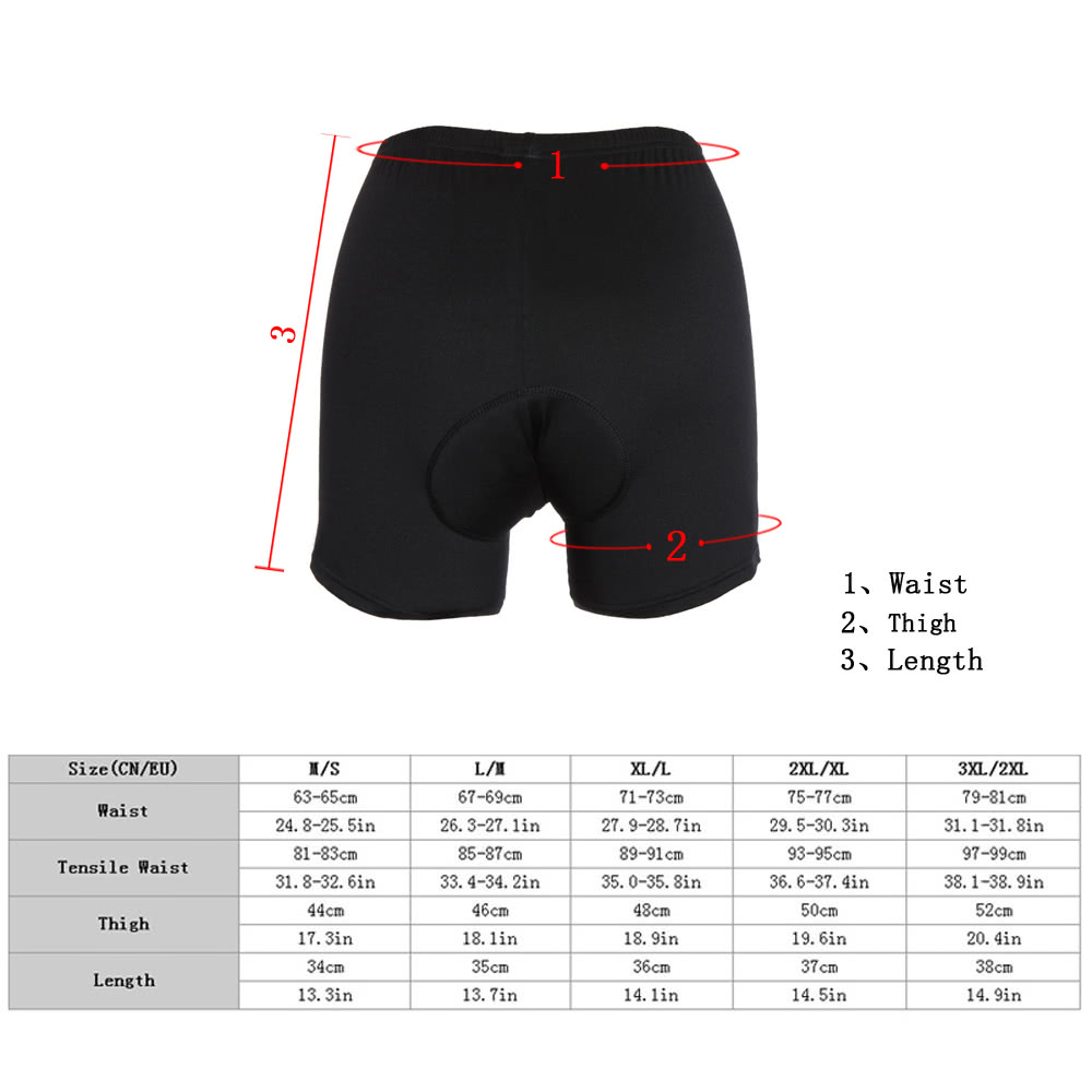 watch 3a0e5 7633f Lixada High-waisted Men Cycling Underwear Gel 3D Padded Bike Bicycle Pants  Black