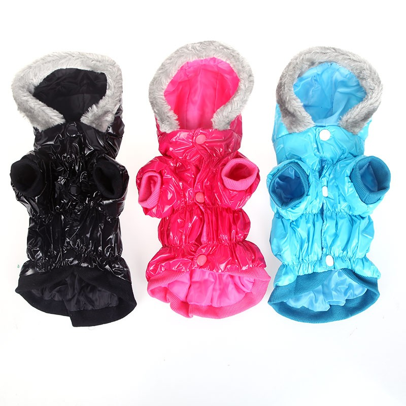 Waterproof Warm Pet Dog Clothes Apparel Hoodie Hooded Coat for Winter