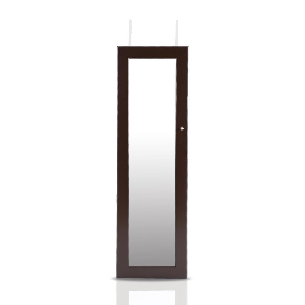 Ikayaa moda specchio monili d 39 attaccatura armoire gioielli armadio storage box organizzatore - Armadio specchio gioielli ...
