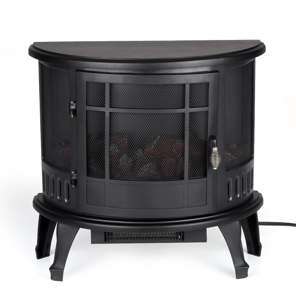 decdeal free standing 23 11 22 elektroherd kamin heizung feuer flamme einstellung. Black Bedroom Furniture Sets. Home Design Ideas