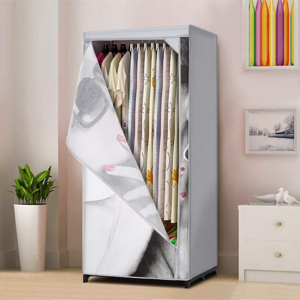 Ikayaa portable de la manera tela armario ropero gabinete - Armario ropero tela ...