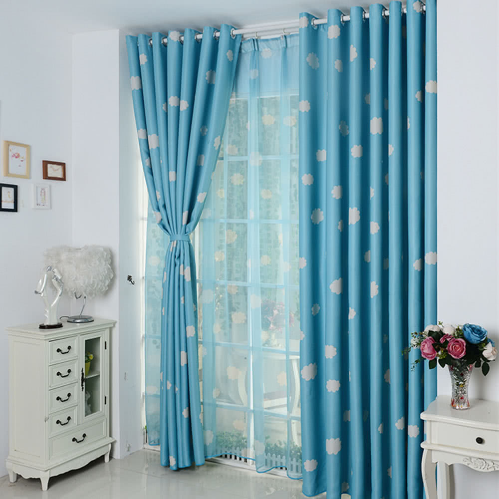 blackout two of slate blue curtains pin pair panel duckrivertextile window modern design trellis white