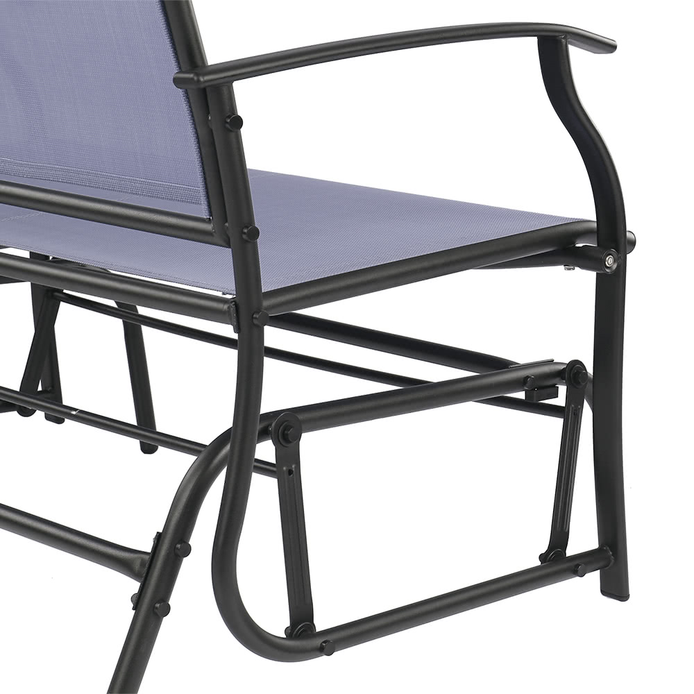ikayaa 2 personne patio balan oire planeur banc chaise causeuse textliene jardin ext rieur. Black Bedroom Furniture Sets. Home Design Ideas
