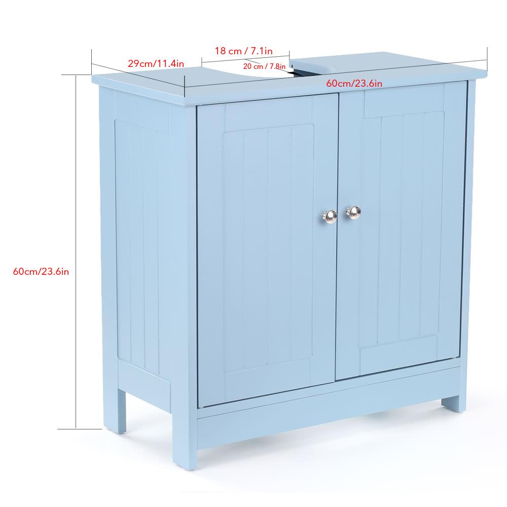 Inspiring Second Hand Cabinets 4 Dark Cherry Kitchen: IKayaa Modern Under Sink Storage Cabinet With Doors